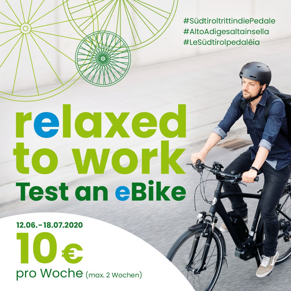 Relaxed to work. Test an eBike!